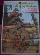 Mystery on Monster Island (1979) - Peter Cushing | Argentinian Movie Poster